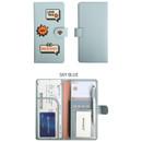 Sky blue - Merrygrin RFID blocking long passport case