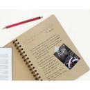 Kraft - Monologue wirebound plain notebook