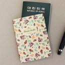 Bouquet - Blossom garden RFID blocking passport case