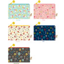 Colors of Blossom garden small zipper pouch