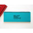 Blue - Brilliant weekly desk scheduler memo note