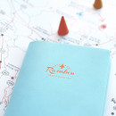Detail of Travel rainbow passport cover case
