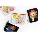 Hellogeeks pop art canvas pouch
