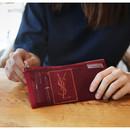 Burgundy - Travelus slim long mesh pouch ver.3