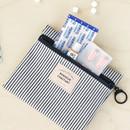 Stripe - Basic pattern small zipper pouch ver.2