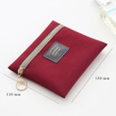 Size of Basic pattern small zipper pouch ver.2