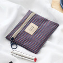 Check - Basic pattern small zipper pouch ver.2
