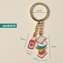 Sandwich - Du dum metal key ring