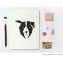 Collie - Pattern lively lined notebook