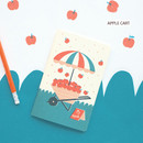 Apple cart - Breezy day small lined notebook