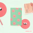 Orange dot - Som som small lined notebook