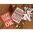 London red illustration postcard set