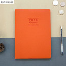 Dark orange - 2016 Record weekly dated large planner