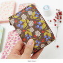Night flower - Pour vous melody accordion card wallet