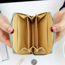 Inside of Pour vous melody accordion card wallet