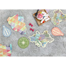 World map travel ground garland