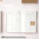 Weekly planner - Bonjour ciao hello undated planner
