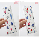Cactus - Cactus flower pattern folding pencil case