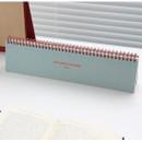 Indi blue - Desk wirebound dated planner