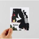 Salut illustration card set