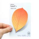 Leaf sticky memo notes 20 sheets - D
