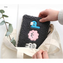Gray - Brunch brother cute square zipper pouch