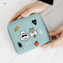 Sky - Ghost pop zip around small wallet ver.2