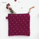 Burgundy - Warm breeze blows square zipper pouch