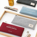 Basic coated cotton zipper pen pencil case