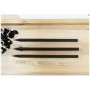 Black wood pencil and clear pencil cap set