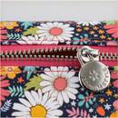 Detail of Flower pattern simple zipper pencil case