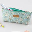 Flower pattern soft zipper pencil case