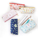 Willow story pattern big zipper pencil case