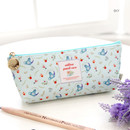 Sky - Willow story pattern big zipper pencil case