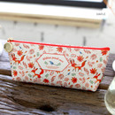 Maple - Willow story pattern big zipper pencil case
