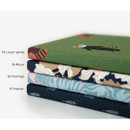 pattern fabric cover plain notebook