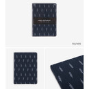 Feather - pattern fabric cover plain notebook