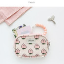 Peach - Jam Jam pattern card case pouch