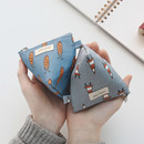 Jam Jam pattern triangle zipper pouch