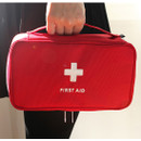 Red - Le around first aid zip around large pouch