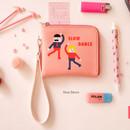 Slow dance - Hello half zip around wallet