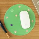 Baseball pattern standard round mouse pad