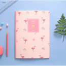 Pink - Make today better aloha lined notebook