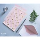 Aloha - illustration pattern letter paper and envelope set