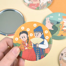 Korean fable pocket round handy mirror