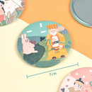 Size of Korean fable pocket round handy mirror