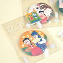 Package for Korean fable pocket round handy mirror