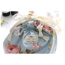 Drawstring - Vintage flower pattern cotton drawstring pouch