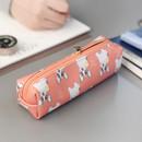 Peach puppy - Rim cute illustration pencil pouch
