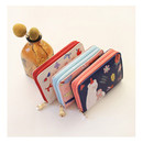 Rim zip around accordion card case holder